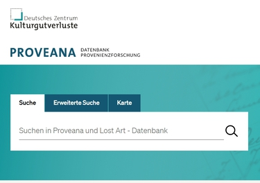 "Forschungdatenbank Proveana (refer to: Research Database ""Proveana"")"