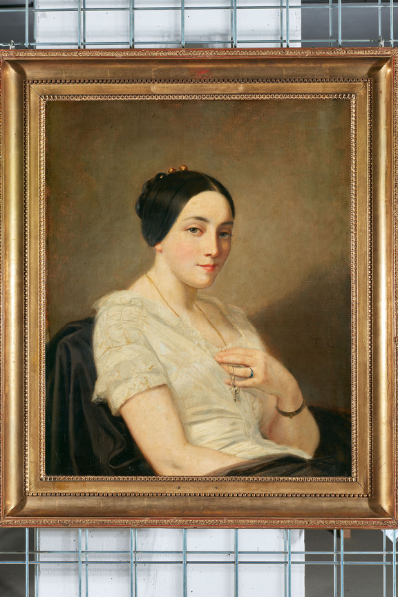 Thomas Couture (1815–1879): Portrait of a Seated Young Woman, 1850–1855