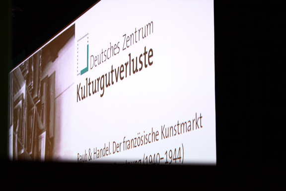 "Auftakt zur Konferenz ""Raub und Handel"" (30. November bis 1. Dezember 2017) (refer to: Event follow up: ""Theft & Trade. The French Art Market Under German Occupation (1940-1944)"")"