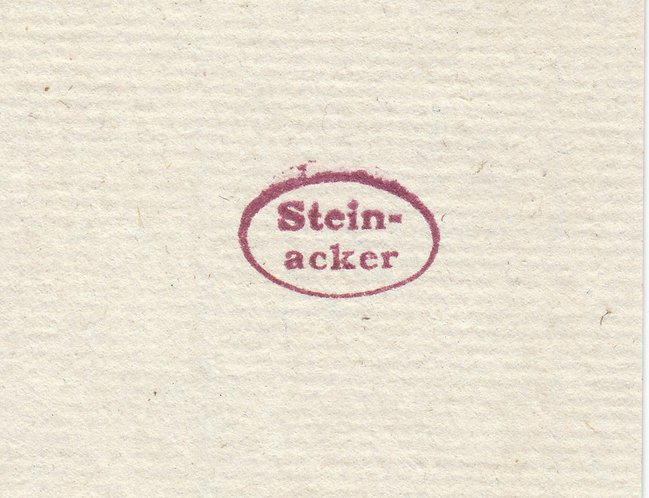 Collector's stamp Steinacker